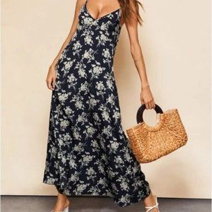SHEIN Summer Slip On Floral Dress Maxi Size SM